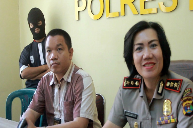 Tersangka Dua Kali Mencabuli Siswi TKK Pertiwi Kota Metro