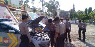 Jelang Operasi Ramadniyah 2016 Kendaraan Patroli Sabhara Polres Tanggamus Dalam Kondisi Siap Digunakan