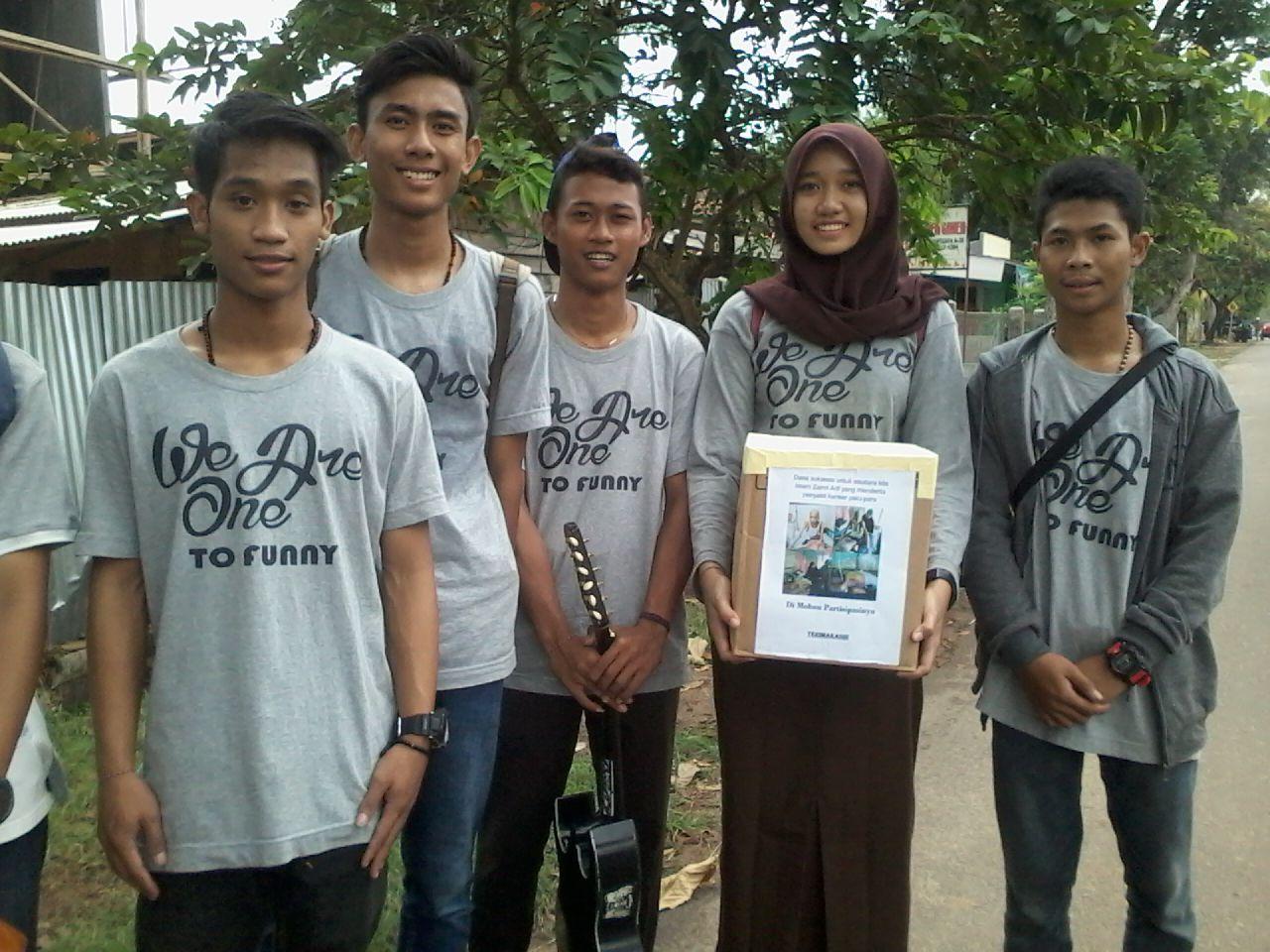 Gabungan Pelajar SMK Se-Kota Metro Galang Dana Untuk Imam Zainuri