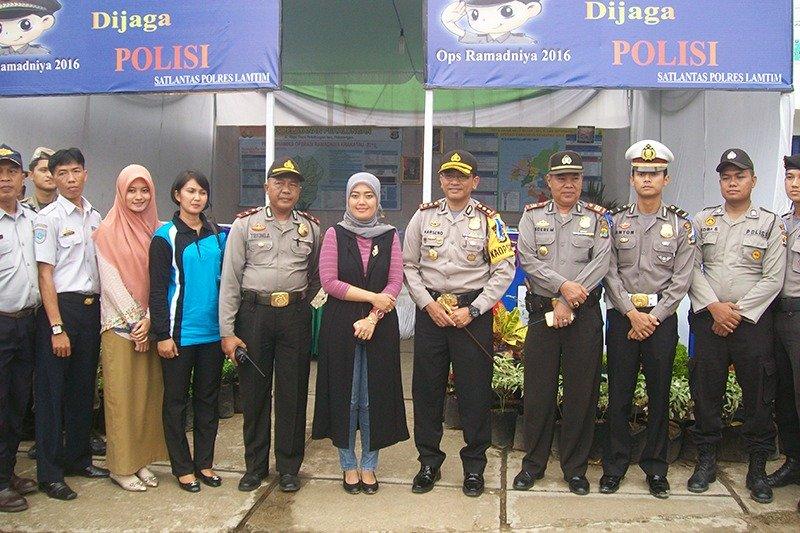 Bupati dan Kapolres Lampung Timur Pantau Arus Mudik Di Akhir Ramadhan