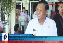 Wali Kota Metro Kunjungi Beberapa Instansi Pelayanan Publik