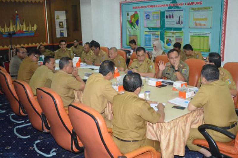 Pemprov Lampung Gelar Rapat Persiapan Penyerahan SK PLT Bupati