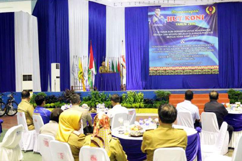 Gubernur Lampung Memberikan Tali Asih Bagi Atlet Dan Pelatih Peraih Medali PON XIX Jawa Barat