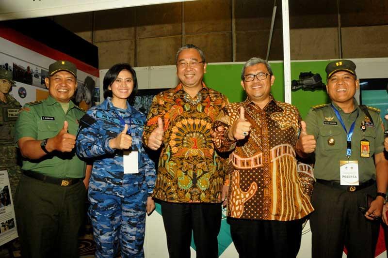 Meriahkan Pameran Anugerah Media Humas, Puspen TNI Buka Stand Pameran Instansi