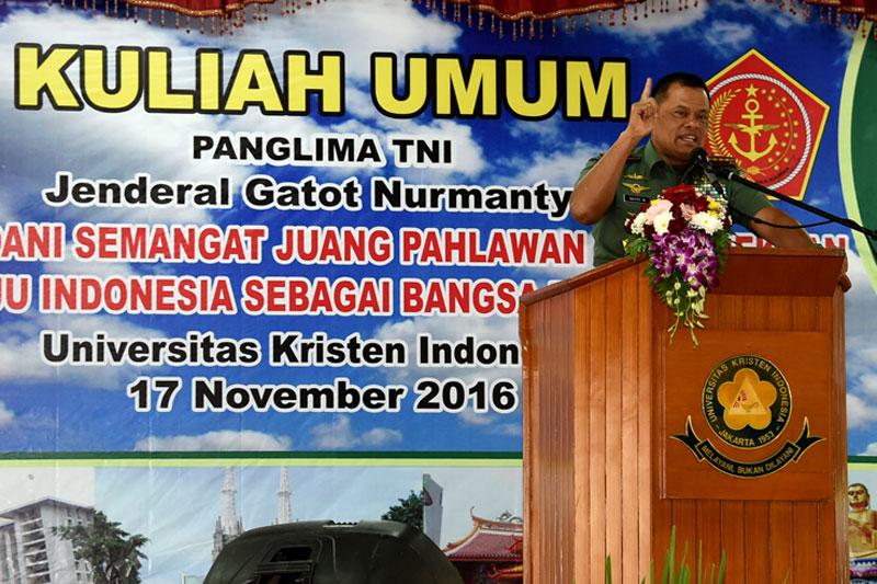 Panglima TNI: Pemuda Indonesia Harus Bersatu, Jangan Mudah Terprovokasi