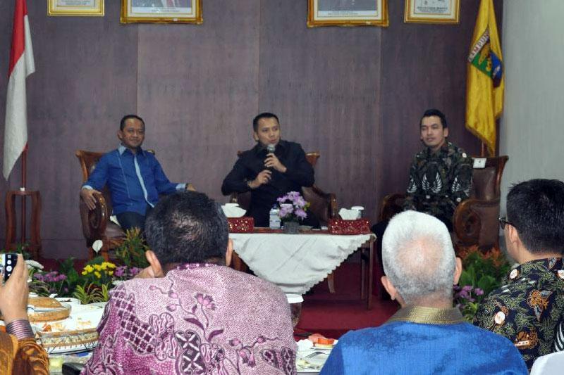 Pembangunan Lampung Terbagi 3 (Tiga) Klaster, Dialog Ekonomi Gubernur dan BPD HIPMI Lampung