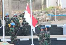 Satgas Indobatt Peringati Hari Pahlawan di Tanah Lebanon