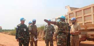 Tim COE Minusca Inspeksi Peralatan Konga XXXVII-C di Afrika Tengah