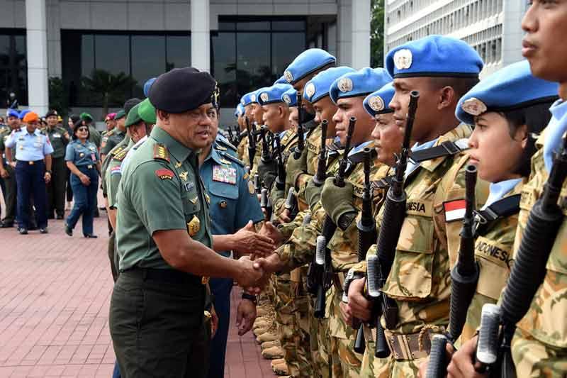 1.169 Prajurit TNI Diberangkatkan Dalam Misi Perdamaian PBB