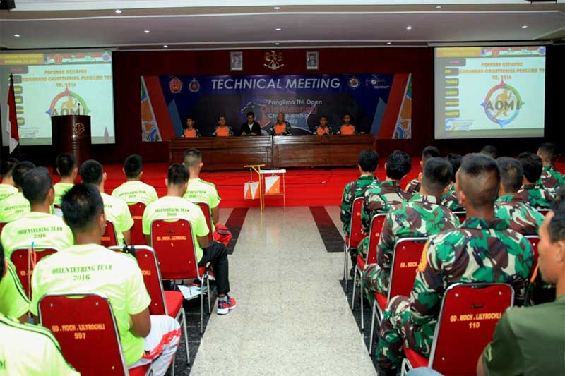 131 Atlet Ikuti Kejurnas Orienteering Piala Panglima TNI ke IV Tahun 2016