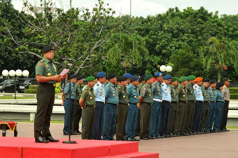 Panglima TNI Terima Kedatangan 1.169 Prajurit TNI Dari Satgas Kontingen Garuda Unifil 2
