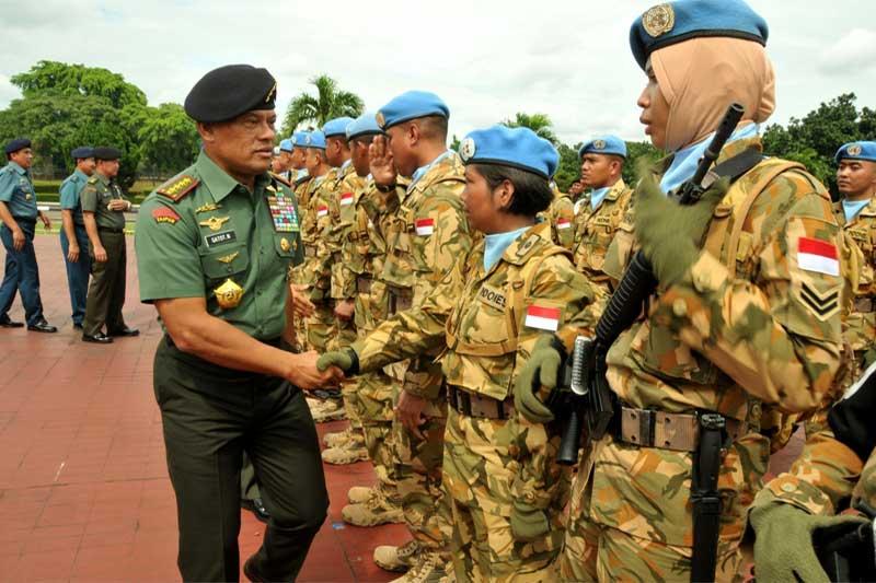 Panglima TNI Terima Kedatangan 1.169 Prajurit TNI Dari Satgas Kontingen Garuda Unifil