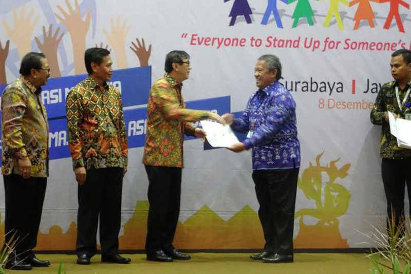 Pemerintah Kota Metro Terima Penghargaan Sebagai Kota Peduli HAM 01