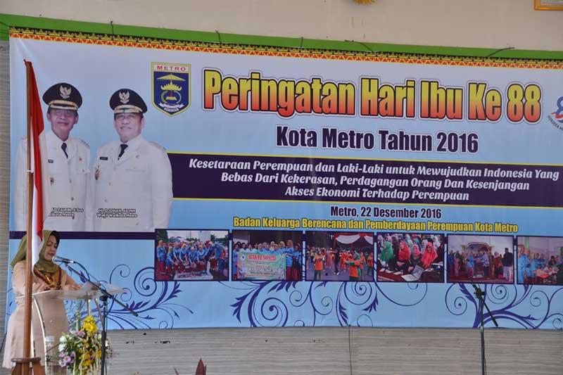Peringati Hari Ibu ke-88, Pemkot Metro Melalui BKKB PP dan GOW Kota Metro Gelar Berbagai Kegiatan 2