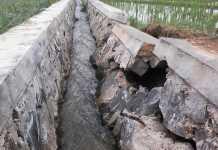 Belum Lama Dibangun, Drainase di Metro Utara Sudah Rusak