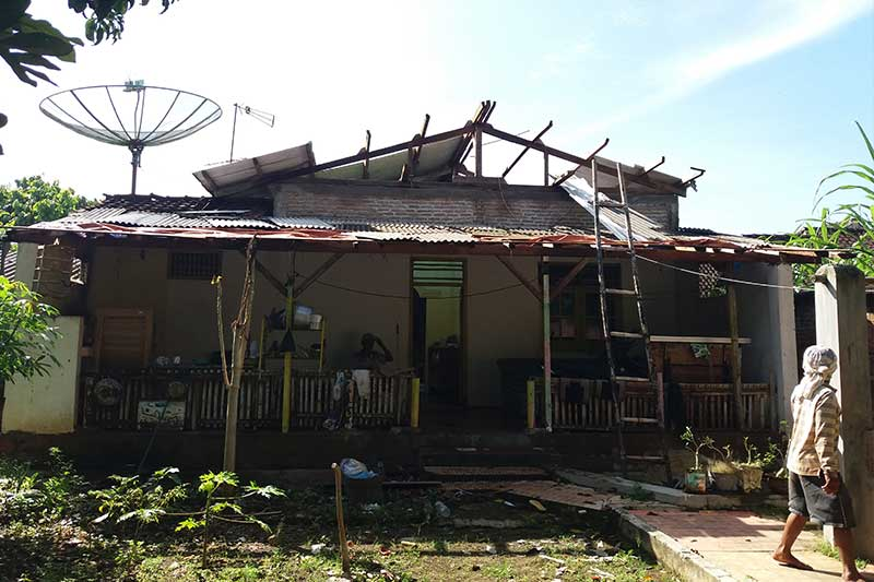 Diterjang Puting Beliung, 7 Rumah di Yosodadi Rusak