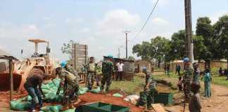Kontingen Garuda Bantu Pembangunan Kantor Pemerintahan di Afrika Tengah