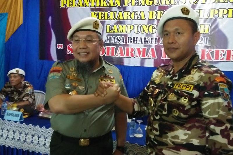Mustofa Diangkat Jadi Keluarga Kehormatan FKPPI Lampung