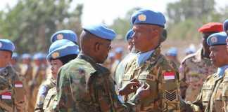 Prajurit TNI di Darfur Sudan Terima Medali Kehormatan dari PBB