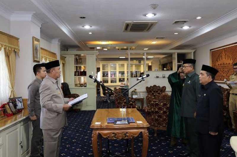 Wakil Gubernur Lampung Bachtiar Basri Lantik Dua Pejabat Tinggi