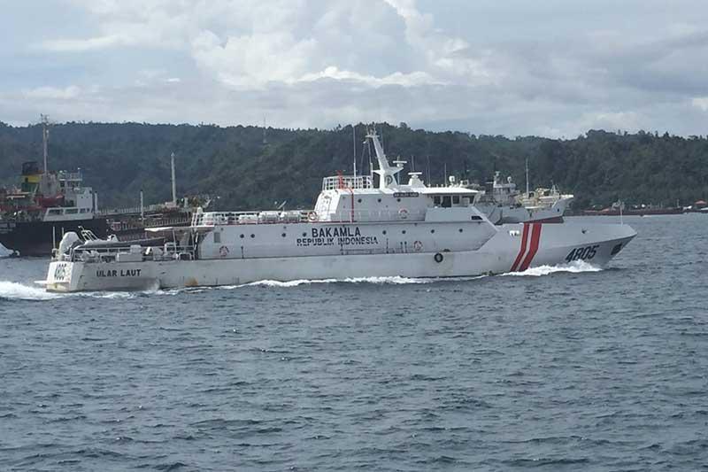 KN Ular Laut Bakamla RI Laksanakan Pengamanan Presiden di Ambon
