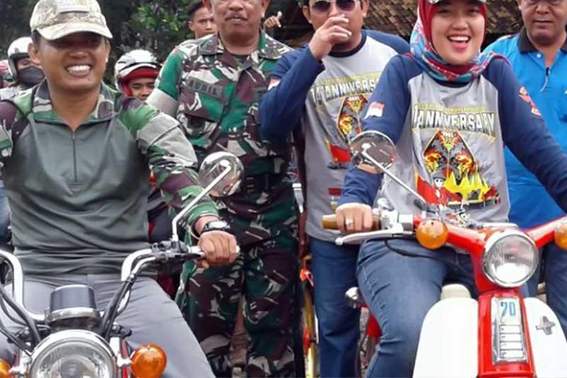 Peringati Anniversary Ke-4 Komunitas CB Club Lampung Adakan Bakti Sosial