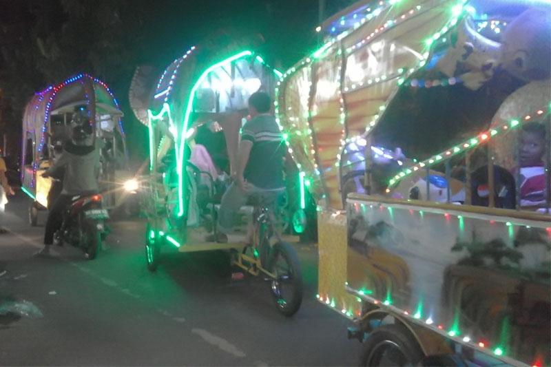 Aktivitas Malam, Taman Merdeka Kerap Kali Sebabkan Macet
