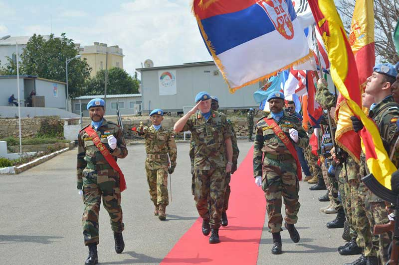 Dansatgas Kontingen Garuda Unifil Menghadiri Unifil Establishment Day 2017
