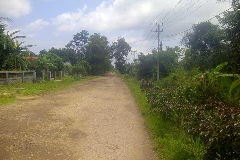 Jalan Walet Metro Utara Akan Dibangun Rigid