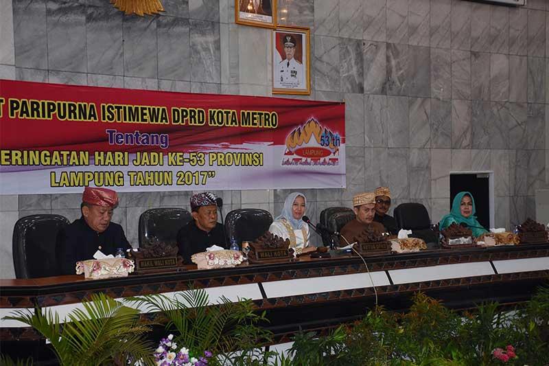 Peringati Hari Jadi Provinsi Lampung ke 53, DPRD Kota Metro Gelar Rapat Paripurna Istimewa