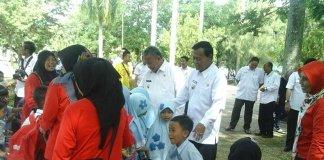 Wali dan Wakil Wali Kota Metro Tinjau Gedung Eks Pengadilan dan Taman Merdeka