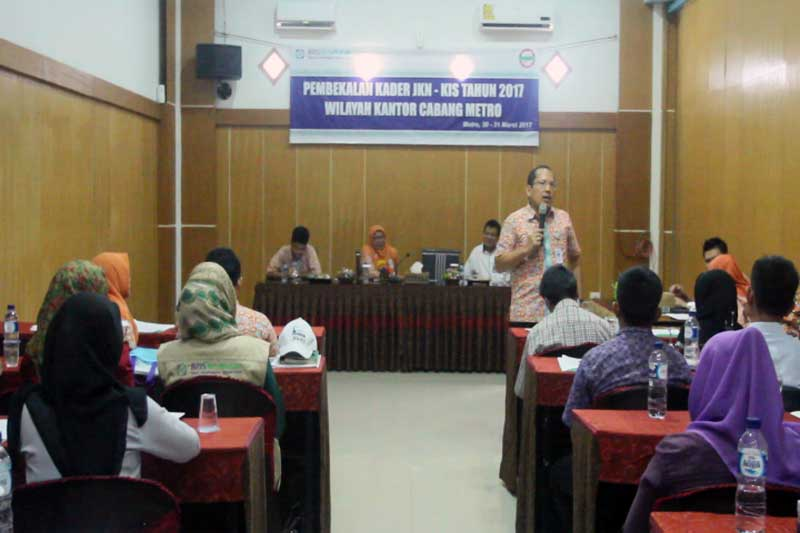 BPJS Kesehatan Metro Lakukan Pembekala Kader JKN-KIS 01