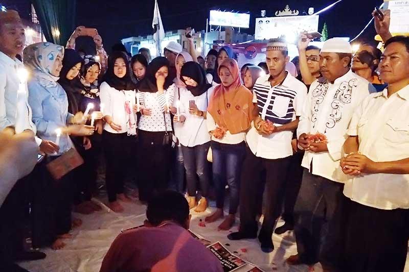 Malam Doa Bersama Untuk Lima Pelajar Terduga Begal Asal Jabung