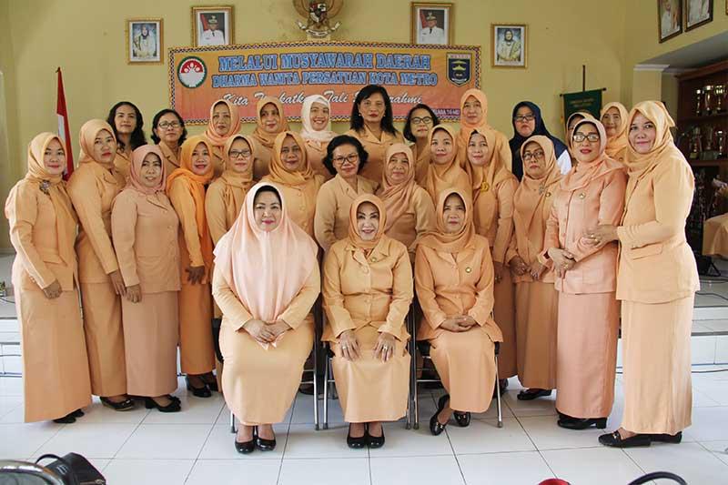 Dharma Wanita Persatuan Kota Metro Gelar Musda