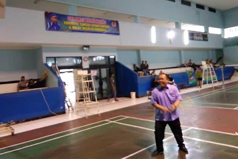 Kadispora Lampung, Buka Turnamen Bulutangkis Siwo PWI Cup 1 2