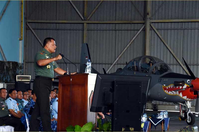 Panglima TNI Tegaskan Prajurit Harus Selalu Siaga Dalam Melindungi dan Menjaga NKRI