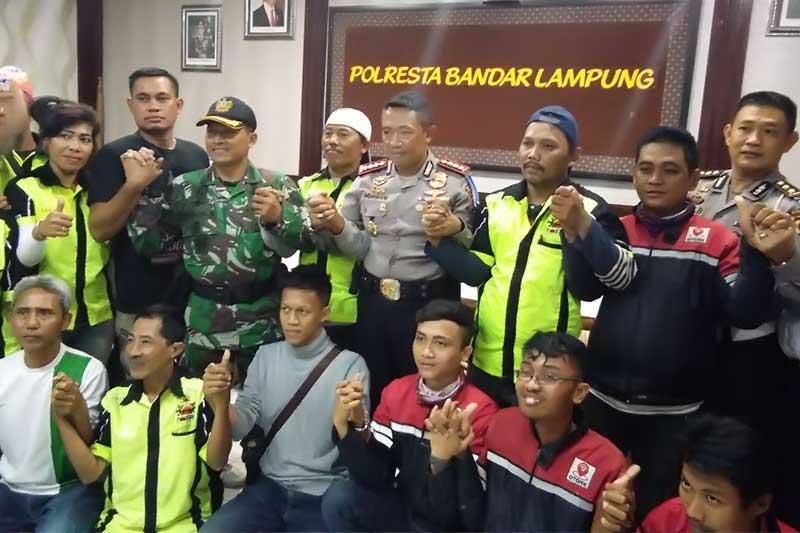 Pokbal dan Gojek Bandar Lampung Sepakati Damai