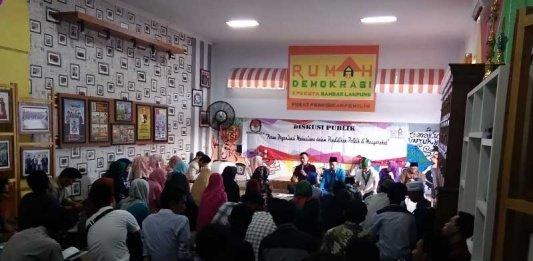 Diskusi dan Buka Bersama Jadi Sarana KPU Bandar Lampung Kumpulkan Aktivis Mahasiswa