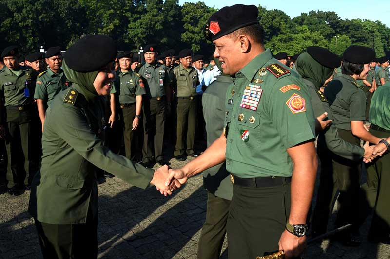 Panglima TNI : Prajurit TNI Harus Ada dan Selalu Bersama Rakyat 02