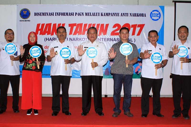 Wakil Walikota Metro : Melalui HANI 2017 Mari Bekerjasama Jauhkan Narkoba Dari Bumi Sai Wawai 03