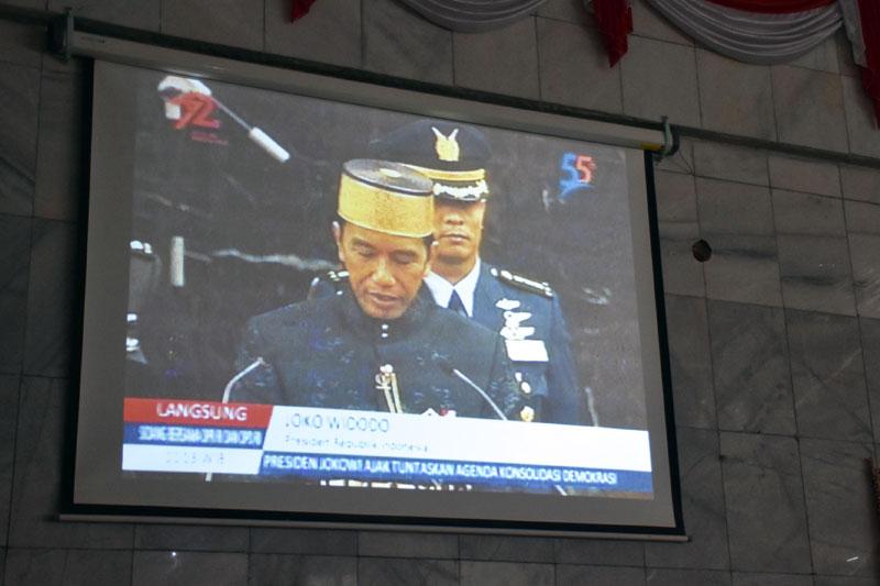 DPRD Kota Metro Gelar Rapat Paripurna Istimewa Dalam Rangka Peringatan HUT Ke-72 Proklamasi Kemerdekaan Republik Indonesia 02