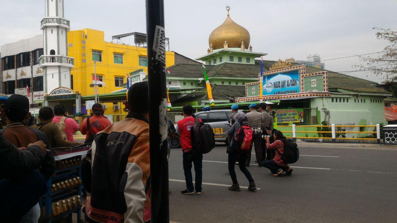 Masjid Jami'al Yaqin Bandar Lampung Digemparkan Ada Bom01