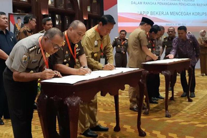 Pemprov-Lampung-Teken-Perjanjian-antara-Pemda-dan-Penegak-Hukum