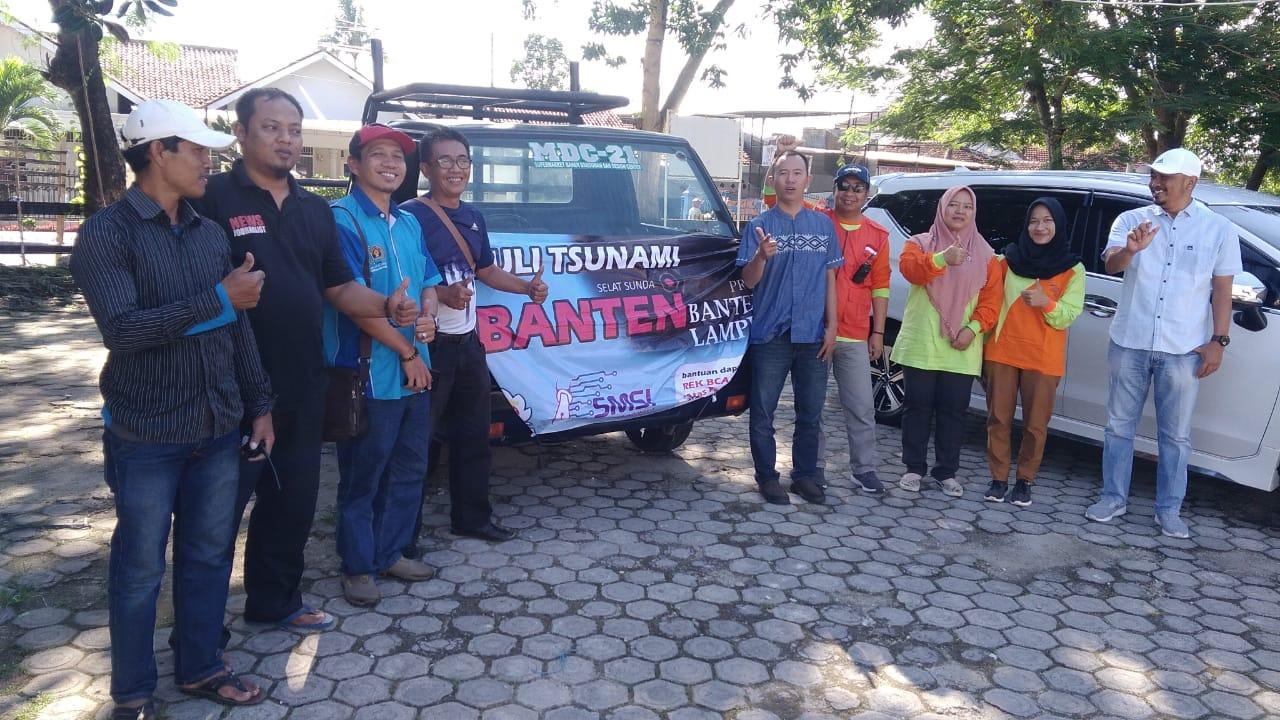 PWI dan Komunitas Peduli Bencana Kota Metro Berangkatkan Bantuan Untuk Korban Tsunami Lampung