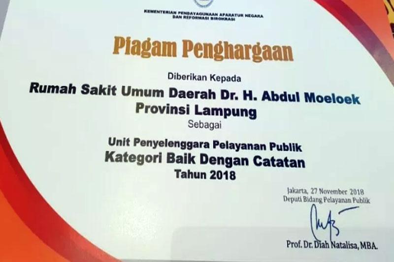 Raih-Penghargaan-Dari-KemenPan-RB,-Gubernur-Lampung-Minta-RSUD-AM-Lebih-Utamakan-Peningkatan-Kualitas-Layanan