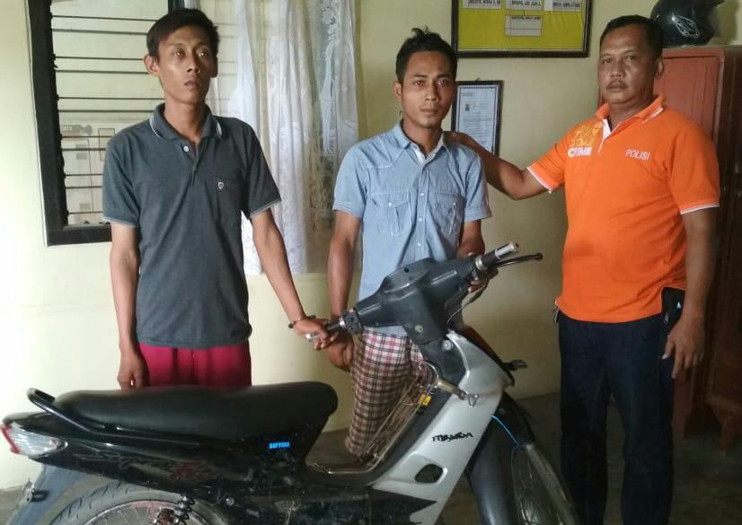Dua Pemuda Bandarmataram, Di Cokok Polisi Usai Curi Motor di Acara Orgen Tunggal