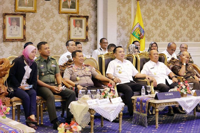 Video-Conference-Bersama-Kemendagri,-Gubernur-Ridho-Tegaskan,-Lampung-Siap-Laksanakan-Pemilu-17-April-2019