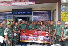 Peringati HUT TNI ke 74, Polres Metro Gelar Pelayanan Smart Sim Untuk Anggota Kodim 0411/LT 01