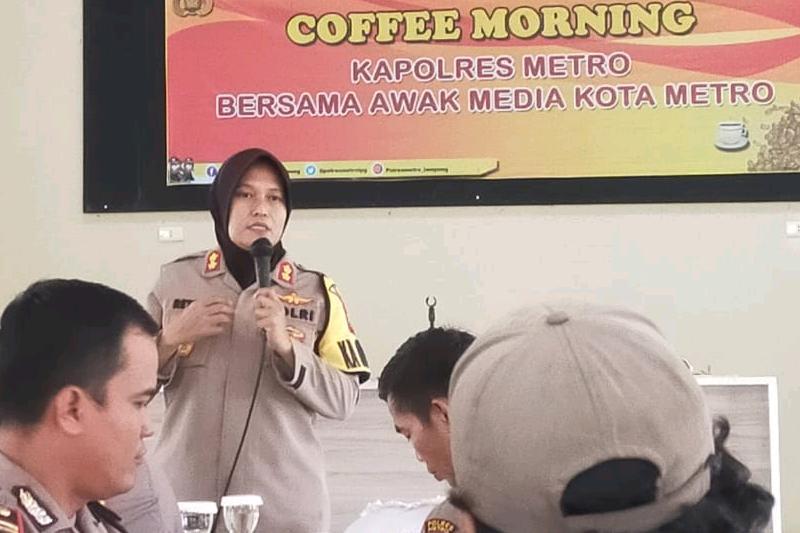 Hadiri Coffe Morning, PWI Metro Siap Dukung Program Polres Untuk Metro Lebih Aman dan Tertib 01