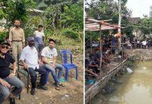Perpanjang Silaturahmi, Ampian-Rudy Mancing Bersama Warga di Iringmulyo